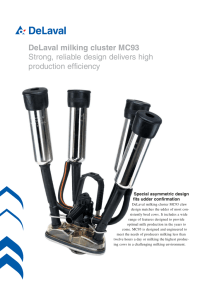 DeLaval milking cluster MC93 Strong, reliable design delivers high