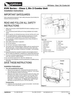Instruction Sheet  sc 1 st  studylib.net & 7200 PDF - Snelson Oilfield Lighting