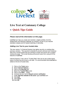 Live Text at Centenary College Quick Tips Guide