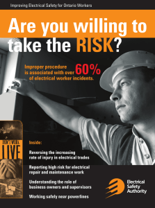 Improving Electrical - Electrical Safety Authority
