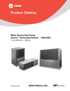 WSHP-PRC017*-EN (01/2016): Product Catalog, Water