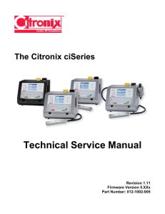 ciSeries Technical Service Manual