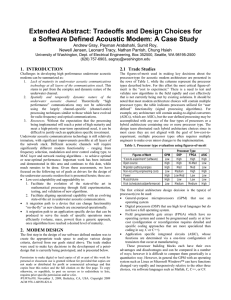 Tradeoffs and Design Choices for a Software Defined Acoustic Modem