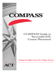 COMPASS Guide to Successful ESL Course Placement