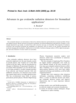 Advances in gas avalanche radiation detectors for biomedical