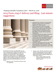 2015 Form 1095-C delivery and filing: Last minute suggestions