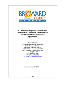 A Consulting Engineer=s Guide for a Wastewater