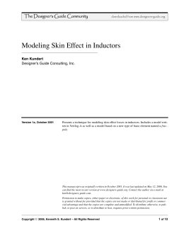 Modeling Skin Effect in Inductors