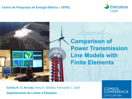 Comparison of Power Transmission Line Models with Finite Elements