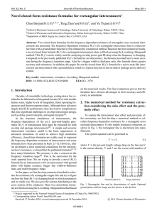 Novel closed-form resistance formulae for rectangular interconnects