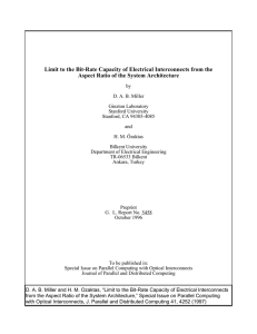 Limit to the Bit-Rate Capacity of Electrical Interconnects from the