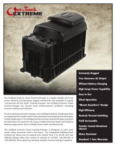 Extremely Rugged True Sinewave AC Output Efficient Battery