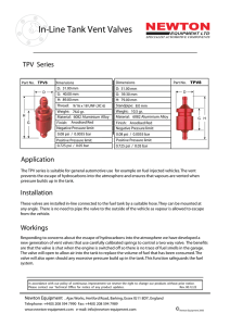 In-Line Tank Vent Valves TPV Series