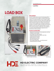 LOAD BOX - HD Electric Company