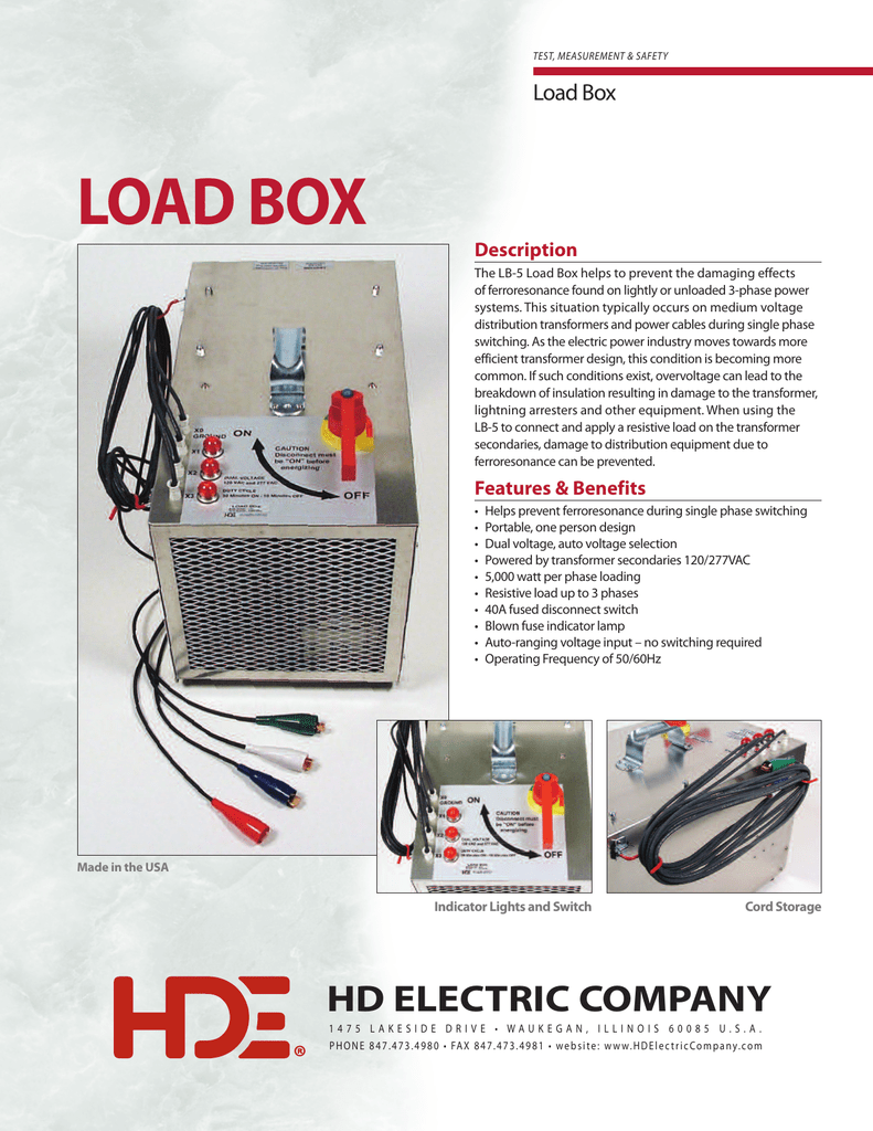 Load Box Hd Electric Company The Phase Fuse