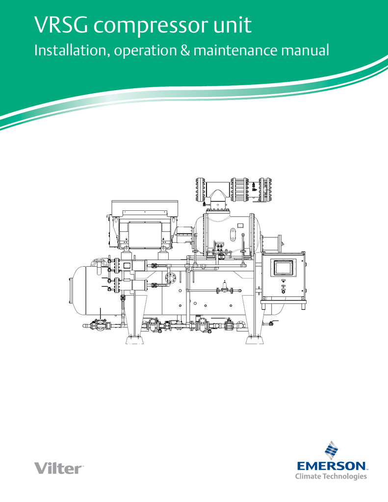 VRSG Compressor Unit - Emerson Climate TechnologiesStudylib