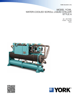 Model YCWL Style A Water-Cooled Scroll Liquid