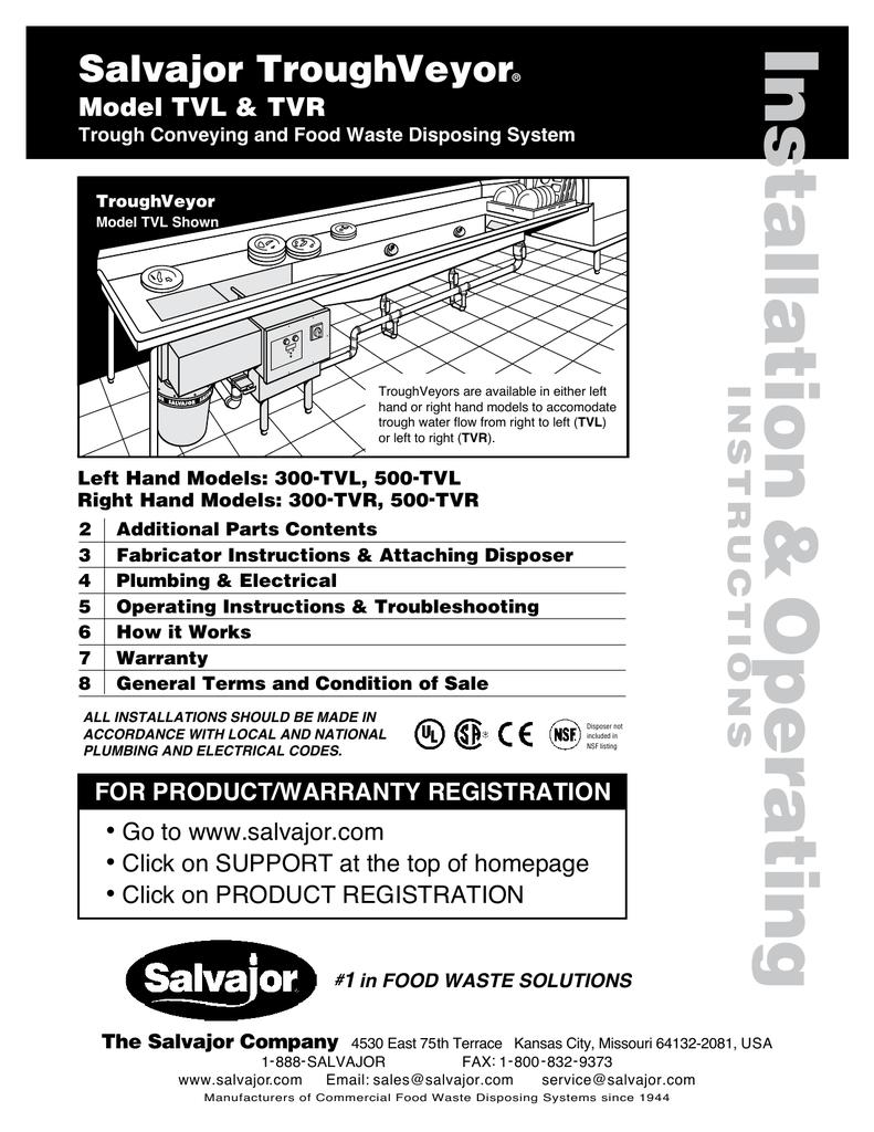 Salvajor Disposal Wiring Diagram Single Phase 208 - Schematic Wiring ...