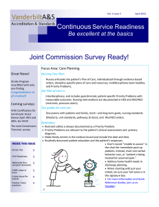 Joint Commission Survey Ready!
