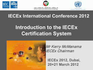 Introduction to the IECEx Certification System