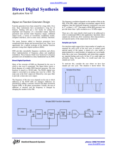 Direct Digital Synthesis - Impact on Function Generator Design