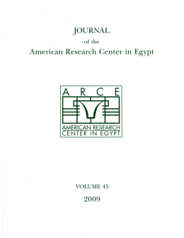 Journal of the American Research Center in Egypt, Vol. 45, 2009