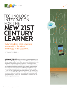 new 21st century learner - National Association of Elementary
