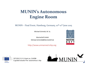 3 – MUNIN`s Autonomous Engine Room