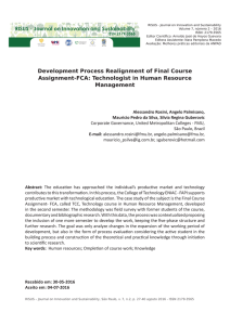 Development Process Realignment of Final Course Assignment-FCA