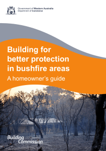 Building for Better Protection in Bushfire Areas