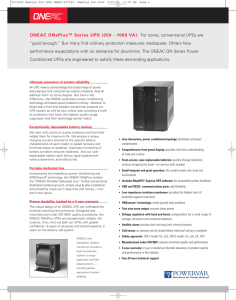 ONEAC ONePlus™ Series UPS (250