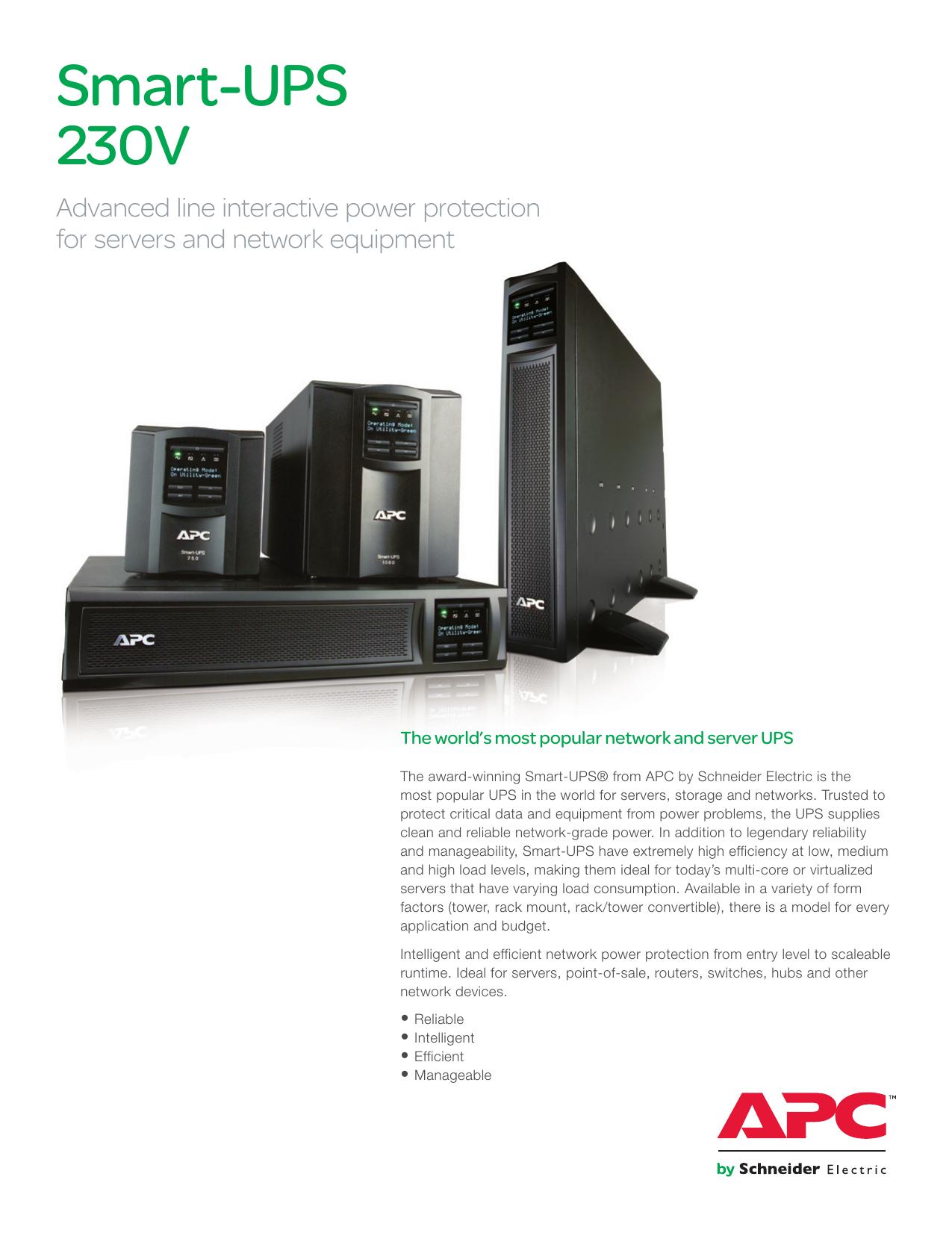 Smart-UPS - Elektronický katalog Schneider Electric