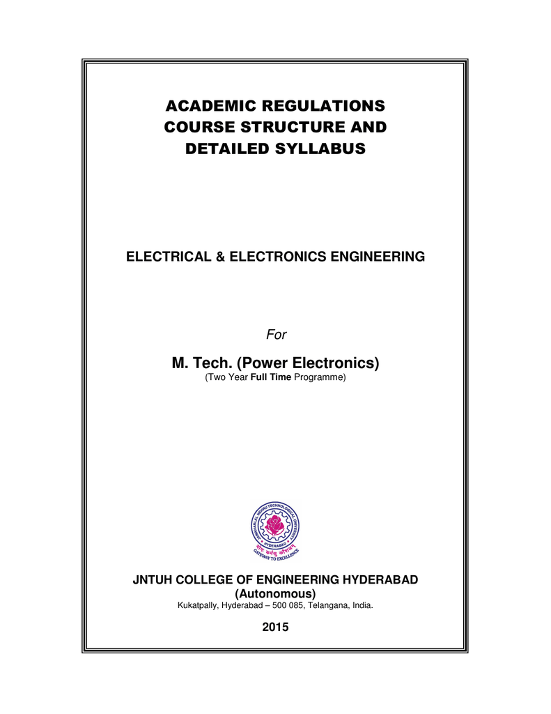 Power Electronics Jntuh College Of Engineering Hyderabad Simple And Useful Led Circuits Srihari Rao