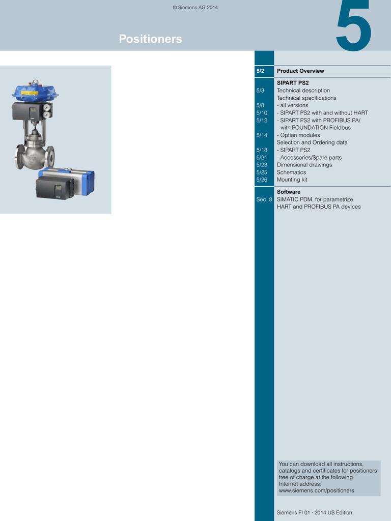 Sipart Ps2 Wiring Diagram Diagrams Siemens Valve Positioner Specification Catalog 2014 N64