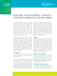 building the philippines` capacity for grid