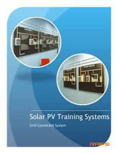 Solar PV Training (Grid Connected) Catalogue