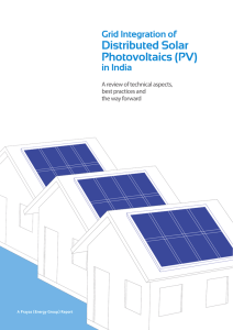 Grid Integration of Distributed Solar Photovoltaics (PV)