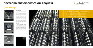 Outcomes: Lens optimisation Lens design Lens optimisation Lenses