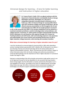 Universal design for learning – A lens for better learning and