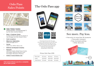 a printer-friendly quick guide to the Oslo Pass