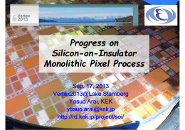 Progress on Silicon-on-Insulator Monolithic Pixel Process