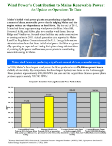 Facts about Maine wind power generation