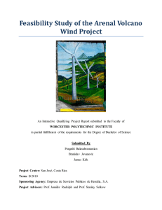 Feasibility Study of the Arenal Volcano Wind Project