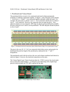 Protoboard, Vulcan Board, DIP and Resistor Color Code