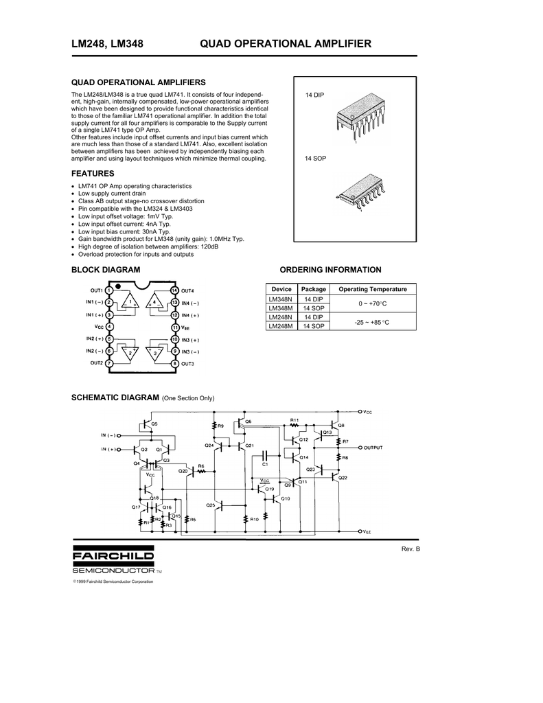 lm248, lm348 quad operational amplifierLm348 Quad Op Amp Circuit Diagram And Datasheet #18