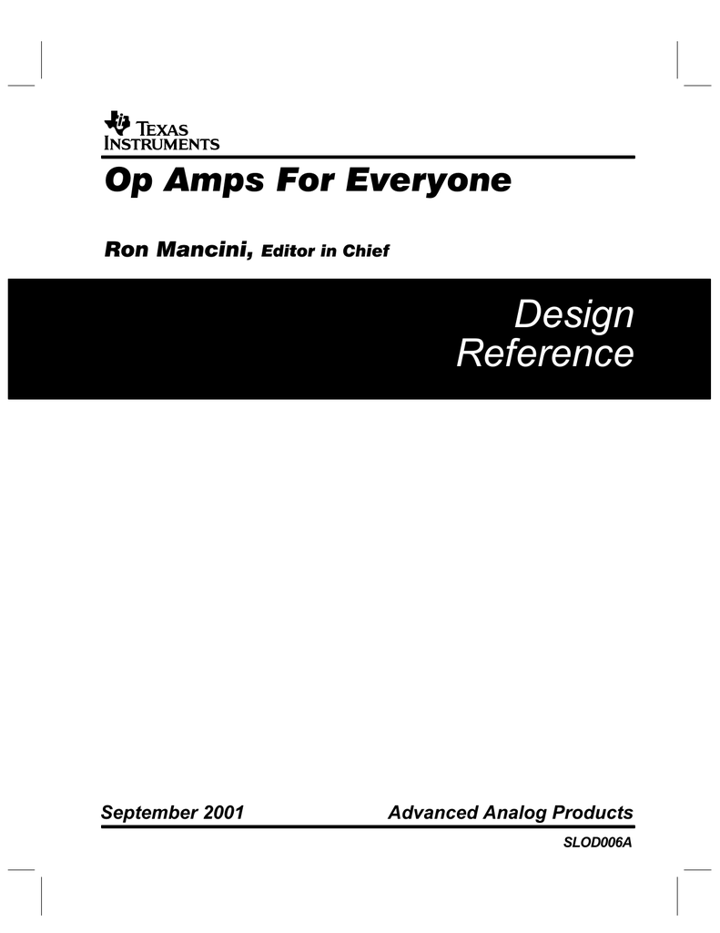 Op Amps For Everyone Design Guide Wiringthe Opamp Inverter Circuit