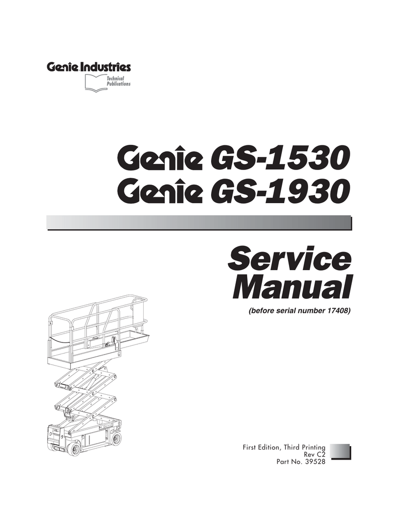 Gs 1930 1530 Service Manual Genie Wiring Diagrams Hydraulic And Pneumatic