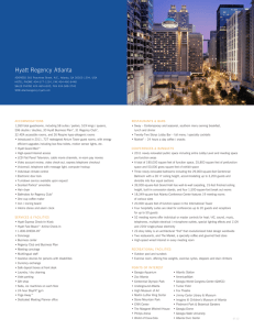 Fact Sheet - Hyatt Regency Atlanta