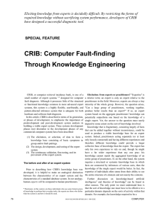 CRIB: Computer Fault-finding Through Knowledge Engineering
