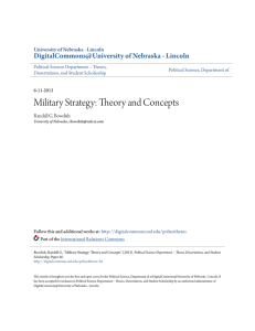 Military Strategy: Theory and Concepts